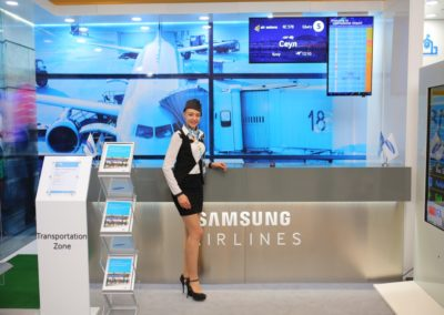Презентация оборудования для аэропорта для саммита Samsung