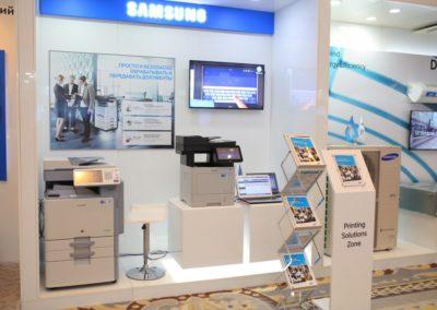 Промо-зона для презентации оргтехники Samsung