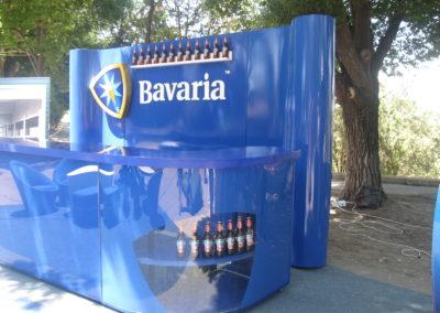 Барная стойка из искусственного камня и акрила в промо-зоне Bavaria