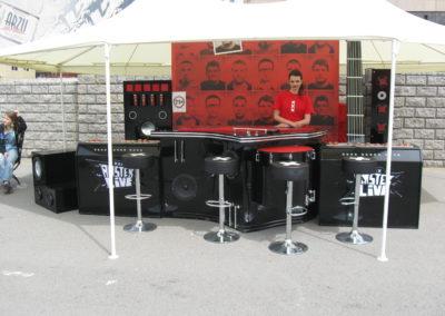 Барная стойка с имитацией музыкального оборудования