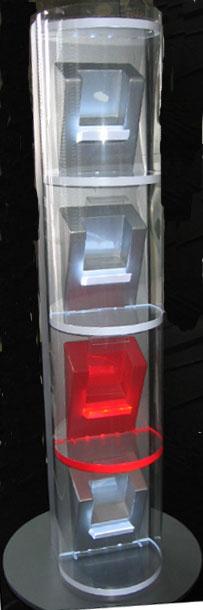 Вертикальный дисплей из акрила с подсветкой